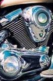 мотоцикл двигателя тяпки классицистический стоковая фотография