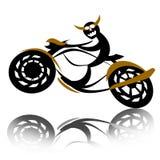 мотоцикл дьявола велосипедиста Стоковые Фотографии RF