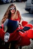 мотоцикл модели способа Стоковая Фотография
