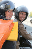 мотоцикл пар стоковое фото rf