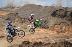 мотоцикл полета воздуха Стоковые Изображения RF