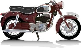 мотоцикл старый Стоковое Фото