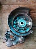 Мотоцикл старых двигателей ретро классический мотоцикл двигателя два приступа Стоковое Фото