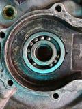 Мотоцикл старых двигателей ретро классический мотоцикл двигателя два приступа Стоковое Изображение