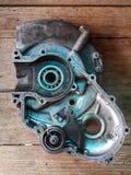 Мотоцикл старых двигателей ретро классический мотоцикл двигателя два приступа Стоковые Фотографии RF