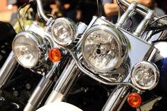 мотоцикл фар Стоковая Фотография RF