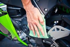 Мотоцикл чистки Стоковые Фотографии RF