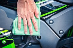 Мотоцикл чистки Стоковые Изображения RF