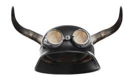 мотоцикл шлема ретро Стоковая Фотография