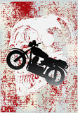 мотоцикл grunge Стоковое фото RF