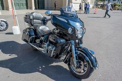 Мотоцикл Roadmaster индейца на Motorclassica стоковая фотография