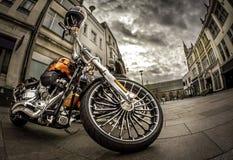 мотоцикл в городе Стоковая Фотография