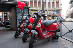 мотоцикл в городе Стоковое Изображение RF