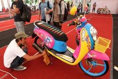 Мотоцикл изменения Стоковые Изображения
