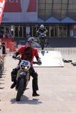 2 мотоциклиста на следе Стоковая Фотография