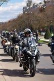 Мотоциклист на параде Стоковые Изображения RF