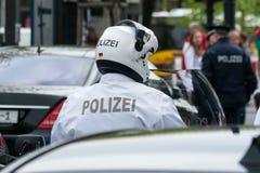 Мотоциклист полиции. Стоковое Фото
