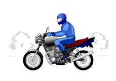Мотоциклист Иллюстрация штока