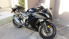 Мотоцикл Кавасаки Ninja 300 Стоковая Фотография RF