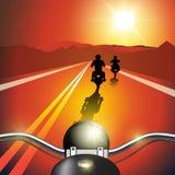 Мотоцикл катания Стоковые Фотографии RF