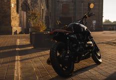 мотоцикл Каф-гонщика Стоковое Фото