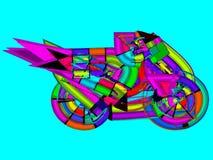 Мотоцикл красочный стоковые изображения