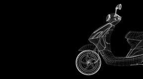 Мотоцикл на предпосылке Стоковое Изображение