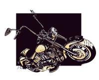 Мотоцикл подгонянный тяпкой иллюстрация штока