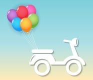 Мотоцикл с воздушными шарами Стоковые Фотографии RF
