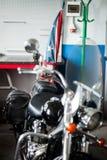 Мотоцикл с государственный флаг сша Стоковое Изображение