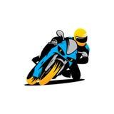 Мотоцикл участвует в гонке знак Стоковое Фото