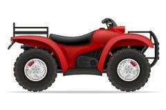 Мотоцикл Atv на 4 колесах с дорог vector иллюстрация Стоковое Изображение RF