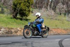 1947 мотоцикл BSA XB 31 350cc на проселочной дороге Стоковое Изображение
