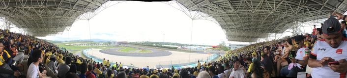 Мотоцикл Grand Prix 2016 Малайзии раковины Стоковые Изображения RF