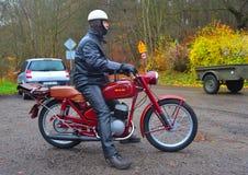 Мотоцикл WFM классики польский Стоковая Фотография RF