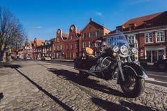 Мотоцилк на голландском районе в Потсдаме Стоковая Фотография RF