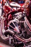 Мотоцилк в винтажном стиле с красивым мастерством Стоковое фото RF