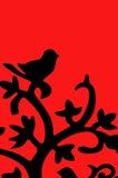 мотыга сделанная с их собственными руками Птица сидя на ветви Стоковая Фотография RF