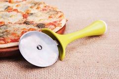 Моццарелла пиццы Стоковые Изображения