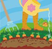 Моча овощи в саде Стоковые Изображения