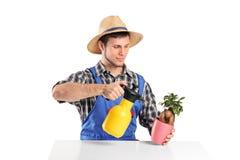 мочить вала садовника бонзаев мыжской Стоковое Фото