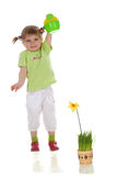 мочить девушки цветка Стоковое Фото
