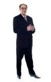 мощное предпринимателя корпоративное Стоковое фото RF