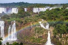 Мощные двухступенные водопады Стоковые Изображения