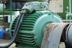 Мощные электрические двигатели для современного промышленного оборудования Стоковые Фотографии RF