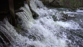 Мощный водопад в замедленном движении видеоматериал