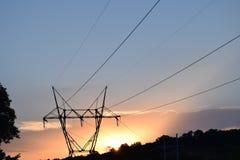Мощный заход солнца Стоковые Фотографии RF