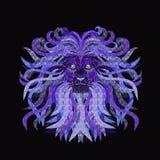 Мощный лев с сочной гривой Стоковая Фотография