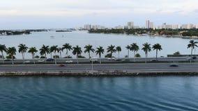 Мощёная дорожка воды Майами сток-видео