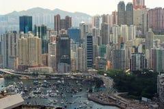 мощёная дорожка Hong Kong залива Стоковое Изображение